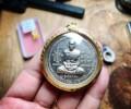 龙婆瑞2541年纯银材质,圣水钵买地皮自身